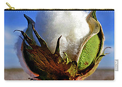 Carry-all Pouch featuring the photograph Cotton Pickin' by Skip Hunt