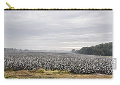 Carry-all Pouch featuring the photograph Cotton Under The Mist by Jan Amiss Photography