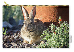 Cottontail Rabbit In The Garden Carry-all Pouch