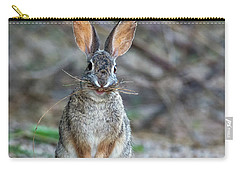Cottontail Rabbit With Twigs 7278-042518-1cr Carry-all Pouch