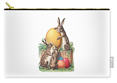 Cottontails And Eggs Carry-all Pouch