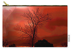 Carry-all Pouch featuring the photograph Cottonwood Crimson Sunset by Joyce Dickens