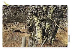 Carry-all Pouch featuring the photograph Cottonwood Stand by Ann E Robson