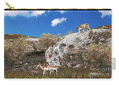 Cougar From Above Carry-all Pouch by Walter Colvin