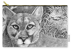 Cougar Carry-all Pouch by Lawrence Tripoli