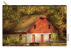 Carry-all Pouch featuring the photograph Country - Barn - Out To Pasture by Mike Savad