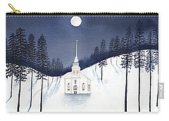 Country Church In Moonlight 2, Silent Night Carry-all Pouch