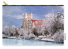 Carry-all Pouch featuring the photograph Country Club Christian Church by Steve Karol