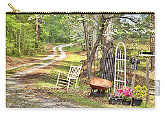Country Driveway In Springtime Carry-all Pouch