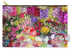 Country Flower Garden Colourful Design Carry-all Pouch