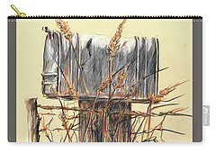 Country Mailbox In Colored Pencil Carry-all Pouch