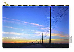 Carry-all Pouch featuring the photograph Country Open Road Sunset - Blue Sky by Matt Harang