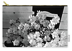 Country Porch In B And W Carry-all Pouch by Sherry Hallemeier
