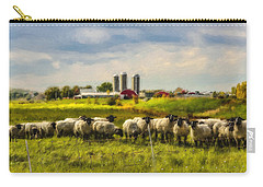 Country Sheep Carry-all Pouch by Ken Morris