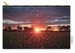 Carry-all Pouch featuring the photograph Country Sunset by Mark Dodd