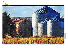 Countryside Old Barn And Silos Carry-all Pouch