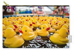 County Fair Rubber Duckies Carry-all Pouch by Todd Klassy