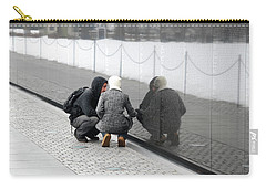 Couple At Vietnam Wall Carry-all Pouch