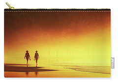 Couple Of Women Walking On Beach Carry-all Pouch