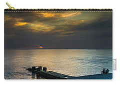 Carry-all Pouch featuring the photograph Couple Watching Sunset by John Williams