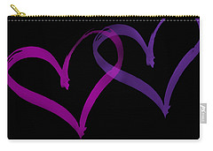 Couples Hearts Carry-all Pouch