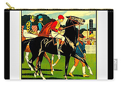 Courses De Chalon French Horse Racing 1911 II Leon Gambey Carry-all Pouch