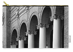 Carry-all Pouch featuring the photograph Courthouse Columns by Richard Rizzo