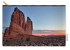 Courthouse Towers Arches National Park At Dawn Carry-all Pouch