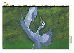 Courtship Dance Carry-all Pouch by Mike Robles