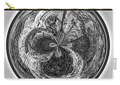 Carry-all Pouch featuring the photograph Courtyard Orb by Judy Wolinsky