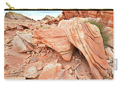 Carry-all Pouch featuring the photograph Cove Of Sandstone Shapes In Valley Of Fire by Ray Mathis