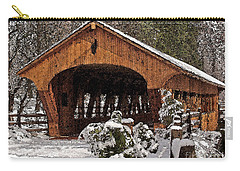 Covered Bridge At Olmsted Falls-winter-2 Carry-all Pouch