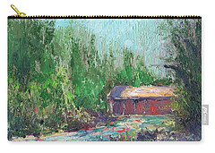 Covered Bridge At Wawona Carry-all Pouch