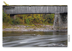Covered Bridge In Vermont With Fall Foliage Carry-all Pouch