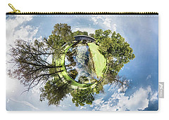Carry-all Pouch featuring the photograph Covered Bridge by Randy Scherkenbach