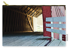 Carry-all Pouch featuring the photograph Covered Bridge, Winterset, Iowa by Wilma Birdwell