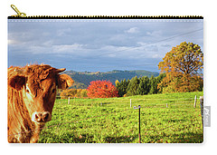 Cow And Autumn Colors  Carry-all Pouch