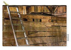 Carry-all Pouch featuring the photograph Cow Barn Ladder by Tom Singleton