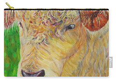 Cute And Curly Cow Carry-all Pouch