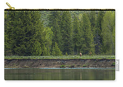Cow Elk On The Riverbank Carry-all Pouch