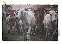 Cow On The Way Colored Carry-all Pouch