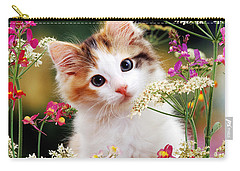 Cow Parsley Cat Carry-all Pouch