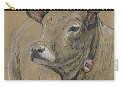 Cow Portrait Painting Carry-all Pouch by Juan Bosco