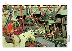 Cowboy And Giraffe Amusement Park Carry-all Pouch