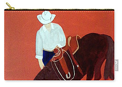 Cowboy And His Horse Carry-all Pouch