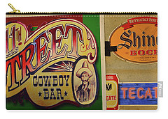 Carry-all Pouch featuring the photograph Cowboy Bar And Beer by Nadalyn Larsen