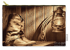 Cowboy Boots In Old Barn Carry-all Pouch