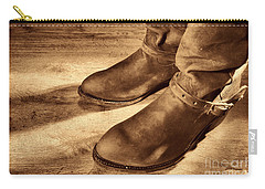 Cowboy Boots On Saloon Floor Carry-all Pouch