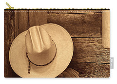 Cowboy Hat In Town Carry-all Pouch
