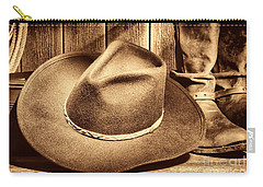 Cowboy Hat On Floor Carry-all Pouch